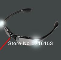 New Fashion Frame Lens Sports Sunglasses Glasses Black with IR Flashlight