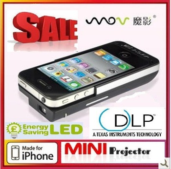 hot sale for Mini LED MOV p8 projector  for iphone4/4s, portable mini video projector for iphone4/4swith charger,