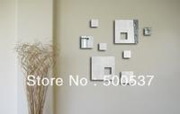 #38 Simple Spuare living room mirror wall decor, mirror sticker home decor wall sticker mirror wall stickers 20PCS/LOT free ship