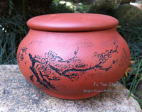 "900cc YIXING ""Red Clay"" Hong Ni Tea Canister, special for store Puerh Tea and Dark Tea, Chinese traditional tea caddy"