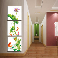 Water oil painting entranceway picture frame trippings chinese style decorative painting paintings mural