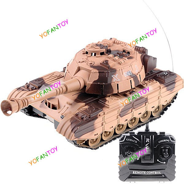 Free Shipping Rechargeable Super Power Panzer Simulation Radio Control Panzer RC Tank Armored Car Battle Vehicle Toy Model Tan(China (Mainland))