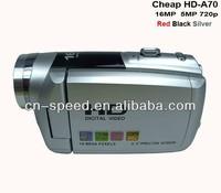 "HD-A70 hot sell camera - 3"" TFT Rotation HD Digital Video Camcorder DV ,16MP 16 digital zoom With free 8G SD card,Free shipping"