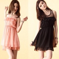 8979 double romantic pearl one-piece dress