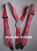 Free Shipping 1'' elastic kids brace/kids suspender/boys suspender with adjustable nickle free clips