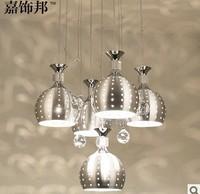 New Modern 5 Wineglass Crystal Ceiling Light  Lamp Lighting ems free shipping