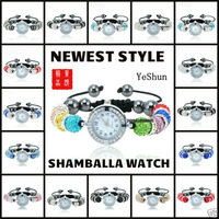 Newest 50% Discount+Wholesale Shamballa Bracelet Watch Women Ladies Fashion Shamball Crystal Bead Quartz Wrist Women Watch
