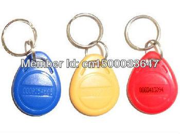 100pcs RFID Proximity Rfid Tag Key Fob 125Khz Smart Card Blue Yellow Red + Free Shipping