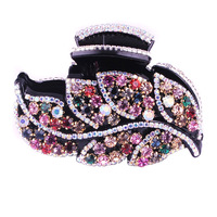 Hairpin 2014 hair accessory aesthetic leaves luxury full rhinestone handmade hairpin elegant charming elegant