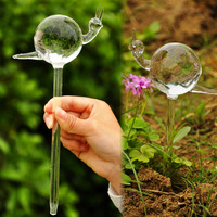 Mxmade exquisite handmade glass snail watering device automatic watering flower