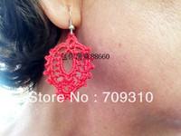 Free Shipping ChaoShan Style Handmade Crochet Earring Bridal Earrings 5 Pair ,Custom hardware colors,ERH00113
