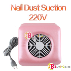 220V Nail Art Dust Suction Collector Manicure Filing Acrylic UV Gel Tip Machine[11485|01|01](China (Mainland))