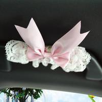 Flower princess pink lace car ceiling armrest set car door handle sets 4 ,Free Shipping