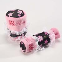 Florid lace pink series cartoon car gears sets handbrake cover auto supplies set ,Free Shipping