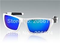 NEW WG007 White TR90 Frame & REVO Coating Blue PC Lenses Sports Riding Glasses (White)+free shipping