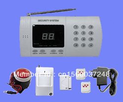 99 zones Wireless Home Security Burglar Alarm System with Auto-dial(China (Mainland))