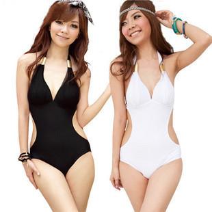 Free Shipping Super Sexy One Piece Swimsuit Padded Slim Ladies Swimwear Beachwear