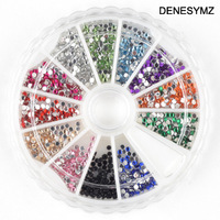 Free shipping Nail art accessories super bright sparkling diamond metal acrylic 1.5mm 1000 12 chromatape diamond box
