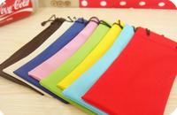 Ftp dust glasses bag ultrafine fiber waterproof derlook cell phone pocket sun glasses plain mirror bags candy color