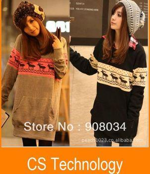 [S966] Korean/Japan new Women casual long Hoodies/pullover,women's Jacket ladies casual SWEET hoodie free shipping