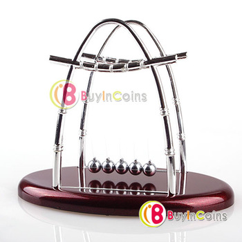 Newton's Cradle Balance Ball Physics Science Fun Desk Toy Accessory Gift #02[26843|01|01]
