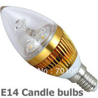 New B15 Base LED Candle light  brightest 3x1W   led bulb AC85V-265V   (warm &cold light)