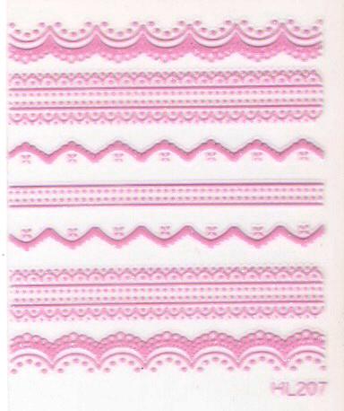 Nail art applique lace applique decoration finger hl205-hl208(China (Mainland))