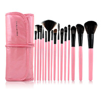 Authentic MFY 6330#15pcs Makeup Cosmetic Brushes Set With Free Case Pink