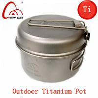 Single Titanium cookware titanium camping pot outdoor fry pan ti portable cookset cookware outdoor cooking utensils tableware