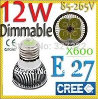 FedEX Free shipping 600 pcs Dimmable12W 9W E27 MR16 GU10 B22 E14 GU5.3 LED Bulb LED Spotlight downlight lamp light lighting