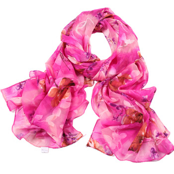 2013 spring and summer romantic all-match print scarf chiffon long silk scarf tender