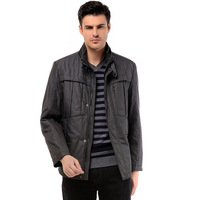 BOSIDENG men's clothing male casual multi-pocket wadded jacket 121407155