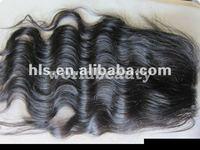 Free shipping wholesale price stock  beautiful 4X4  virgin malaysian hair bodywave lace top closure