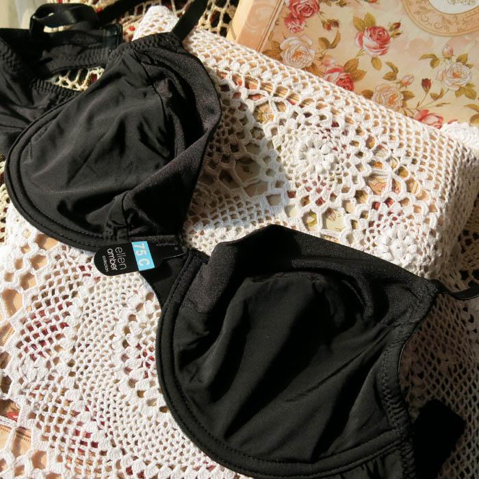 P3 shopping cart fashion black silky ultra-thin bra 80c80d85c90d95d