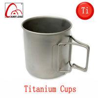 Camping Hiking titanium cup ultra-light outdoor cup portable teacup 370ml