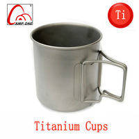 Camping Hiking titanium cup ultra-light outdoor cup portable teacup 370ml