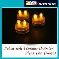10units/lot Amer-color Submersible Led tea lights- Centerpiece decorations Accent Wedding lights