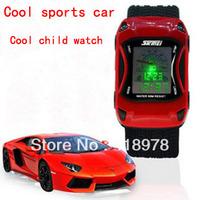 Free shipping  2013 Gift child watch boy sports car watch waterproof multifunctional student watch electronic male table