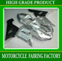 ABS customs motorcycle fairing kit argent/black 2005 2006 ZX6R bodywork ZX-6R 05 06 plastic body kits for KAWASAKI