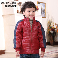 Scotch marco male child wadded jacket child winter all-match winter children's clothing stand collar thickening jacket