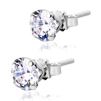 Accessories s925 pure silver hearts and arrows cubic zircon stud earring lovers stud earring male Women elegant all-match