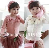 Free shipping children's clothing girl cardigan/lace blouse/ spring coat/cardigan 5pcs/lot