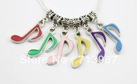 50pcs wholesale lots Fashion DIY Charms Big hole Music Art shaped pendant dangle Drop beads fit Euopean bracelet  Bangle Jewelry