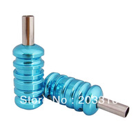 free shipping 2013 8pc colors Aluminum Alloy tattoo Grips with Back Stem For tattoo supply