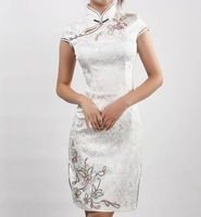 Carming Fashion Chinese Women's Mini Evening Dress Cheongsam Size:S-XL