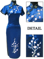 Chinese Women's Traditional Embroidery Evening Dress Cheongsam Size:M-3XL