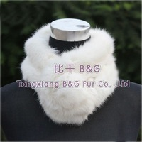 BGZX009 Free Shipping 10 Colors Rabbit Fur Collar For Lady's With Ball Autumn Lovely Scarf/Neckwear OEM Wholesale/Retail
