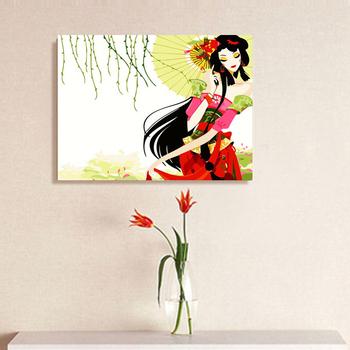 Digital oil painting diy oil painting lovers married decorative painting 4050 umbrella