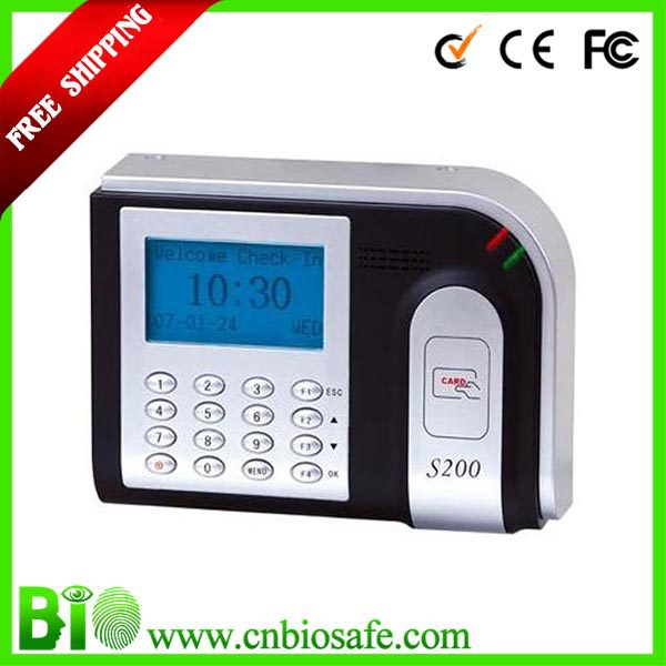 RFID Timing Systems Punch Card Attendance Machine /Card Swiping Machine HF-S200(China (Mainland))