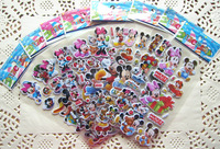 Free Shipping! 100 Sheets Micky & Minnie Design Kids Cute PVC Puffy Stickers, 3D Stickers. Cartoon Craft Scrapbook Stickers